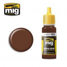 AMMO BY MIG JIMENEZ  0133 RED LEATHER 17ml ACRYLIC PAINT FOR BRUSH   AIRBRUSH