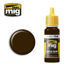 AMMO BY MIG JIMENEZ  0134 BURNT BROWN RED 17ml ACRYLIC PAINT FOR BRUSH   AIRBRUSH