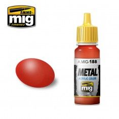 AMMO BY MIG JIMENEZ  0188 METALLIC RED 17ml ACRYLIC PAINT FOR BRUSH   AIRBRUSH
