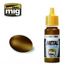 AMMO BY MIG JIMENEZ  0190 OLD BRASS 17ml ACRYLIC PAINT FOR BRUSH   AIRBRUSH