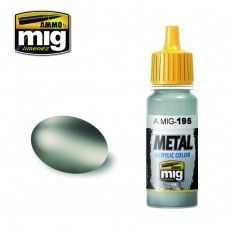 AMMO BY MIG JIMENEZ  0195 SILVER 17ml ACRYLIC PAINT FOR BRUSH   AIRBRUSH