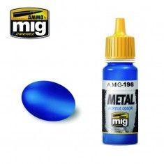 AMMO BY MIG JIMENEZ  0196 WARHEAD METALLIC BLUE 17ml ACRYLIC PAINT FOR BRUSH   AIRBRUSH