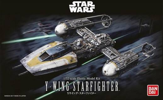 BANDAI 1/72 0196694 STAR WARS Y-WING STARFIGHTER