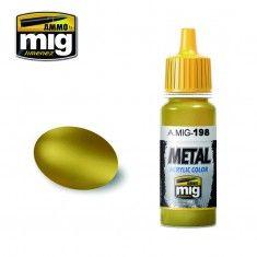 AMMO BY MIG JIMENEZ  0198 GOLD 17ml ACRYLIC PAINT FOR BRUSH   AIRBRUSH