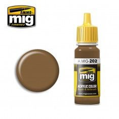 AMMO BY MIG JIMENEZ  0202 TAN 17ml ACRYLIC PAINT FOR BRUSH   AIRBRUSH
