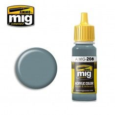 AMMO BY MIG JIMENEZ  0208 DARK COMPASS GHOST GREY 17ml ACRYLIC PAINT FOR BRUSH   AIRBRUSH