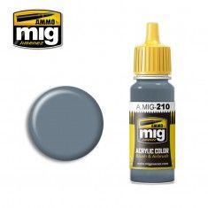 AMMO BY MIG JIMENEZ  0210 BLUE GREY AMT-11 17ml ACRYLIC PAINT FOR BRUSH   AIRBRUSH