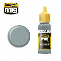AMMO BY MIG JIMENEZ  0212 SILVER GREY 17ml ACRYLIC PAINT FOR BRUSH   AIRBRUSH