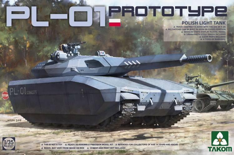 TAKOM 1/35 02127 Polish PL-01 Prototype Light Tank