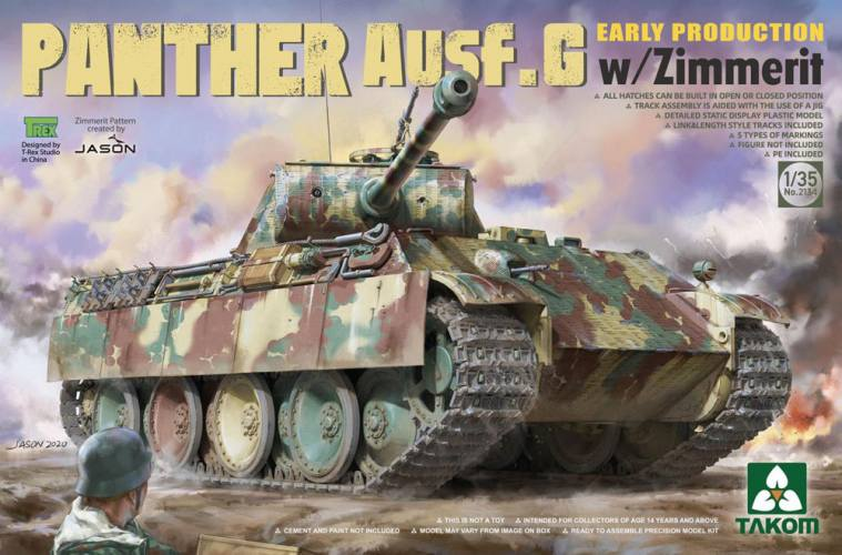 TAKOM 1/35 02134 Panther Ausf.G Early Production w/Zimmerit