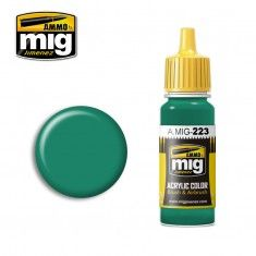 AMMO BY MIG JIMENEZ  0223 INTERIOR TURQUOISE GREEN 17ml ACRYLIC PAINT FOR BRUSH   AIRBRUSH