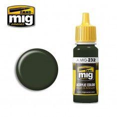 AMMO BY MIG JIMENEZ  0232 SCHWARTZ GREEN 17ml ACRYLIC PAINT FOR BRUSH   AIRBRUSH