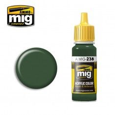 AMMO BY MIG JIMENEZ  0238 MEDIUM GREEN 17ml ACRYLIC PAINT FOR BRUSH   AIRBRUSH
