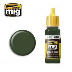AMMO BY MIG JIMENEZ  0248 OLIVE GREEN 17ml ACRYLIC PAINT FOR BRUSH   AIRBRUSH