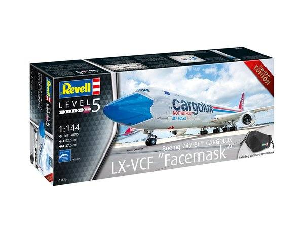 REVELL 1/144 03836 BOEING 747-8F CARGOLUX LX-CVF FACEMASK