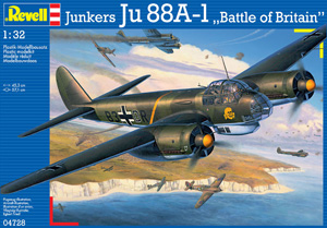 REVELL 1/32 04728 JUNKERS Ju 88A-1 BATTLE OF BRITAIN  UK SALE ONLY