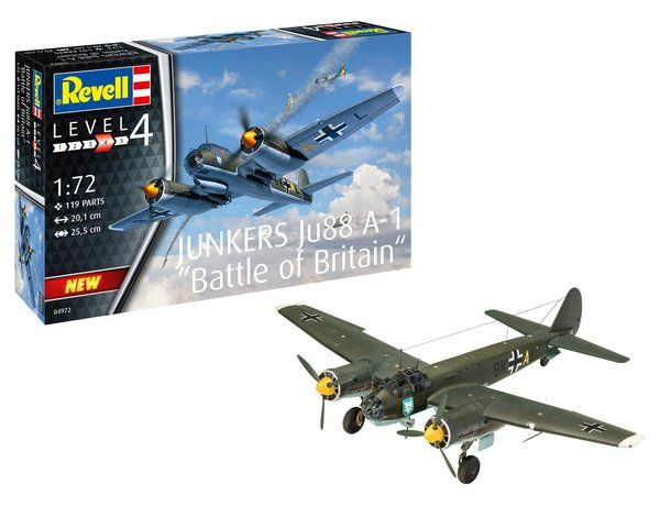 REVELL 1/72 04972 JUNKERS JU88 A-1 BATTLE OF BRITAIN