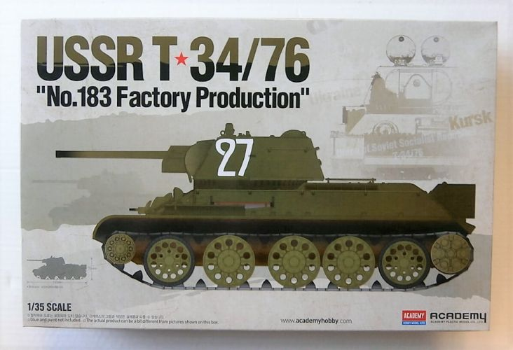 ACADEMY 1/35 13505 USSR T-34/76 No 183 FACTORY PRODUCTION