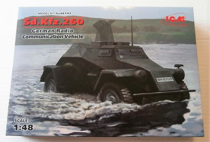 ICM 1/48 48193 Sd.kFZ.260 GERMAN RADIO COMMUNICATION VEHICLE