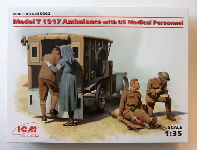 ICM 1/35 35662 MODEL T 1917 AMBULANCE WITH US MEDICAL PERSONNEL