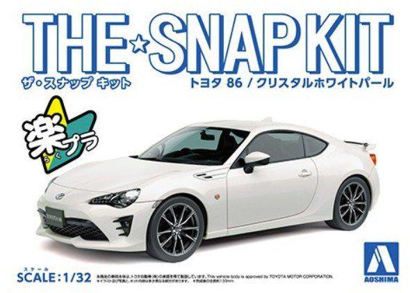 AOSHIMA 1/32 05418 Toyota  86  White  - SNAP KIT