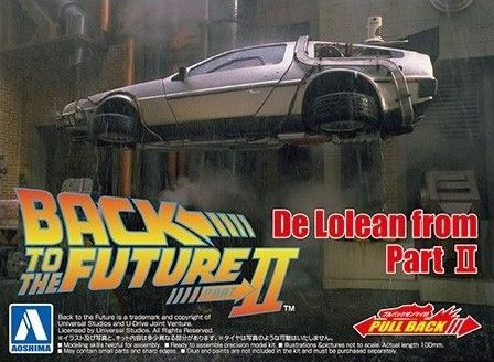 AOSHIMA 1/43 05476 BACK TO THE FUTURE DE LOREAN FROM PART II