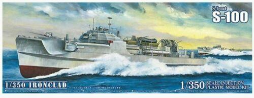 AOSHIMA 1/350 05659 GERMAN MTB WWII S-100 BOAT IRONCLAD