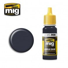 AMMO BY MIG JIMENEZ  0908 GREY BASE 17ml ACRYLIC PAINT FOR BRUSH   AIRBRUSH