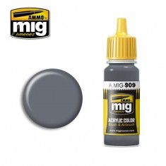AMMO BY MIG JIMENEZ  0909 GREY LIGHT BASE 17ml ACRYLIC PAINT FOR BRUSH   AIRBRUSH