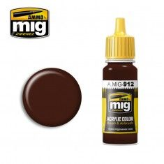AMMO BY MIG JIMENEZ  0912 RED BROWN SHADOW 17ml ACRYLIC PAINT FOR BRUSH   AIRBRUSH