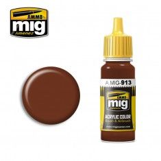 AMMO BY MIG JIMENEZ  0913 RED BROWN BASE 17ml ACRYLIC PAINT FOR BRUSH   AIRBRUSH
