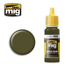 AMMO BY MIG JIMENEZ  0926 OLIVE DRAB BASE 17ml ACRYLIC PAINT FOR BRUSH   AIRBRUSH