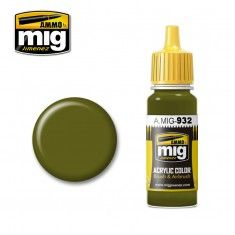 AMMO BY MIG JIMENEZ  0932 RUSSIAN GREEN BASE 17ml ACRYLIC PAINT FOR BRUSH   AIRBRUSH