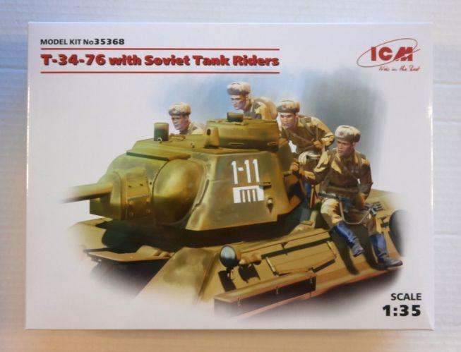 ICM 1/35 35368 T-34-76 WITH SOVIET TANK RIDERS