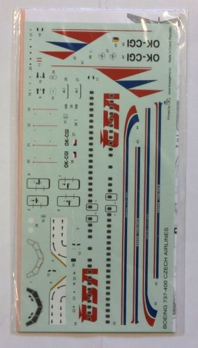 DISCOUNT DECALS 1/144 1489. 408 BOEING 737-400 CSA CZECH AIRLINES