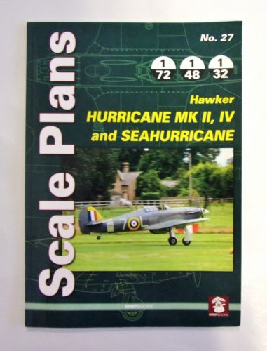 CHEAP BOOKS  ZB2009 SCALE PLANS No.27 - HAWKER HURRICANE MKII IV AND SEAHURRICANE