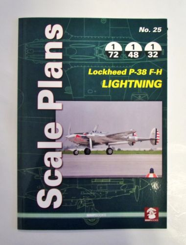 CHEAP BOOKS  ZB2005 SCALE PLANS No.25 - LOCKHEED P-38 F-H LIGHTNING