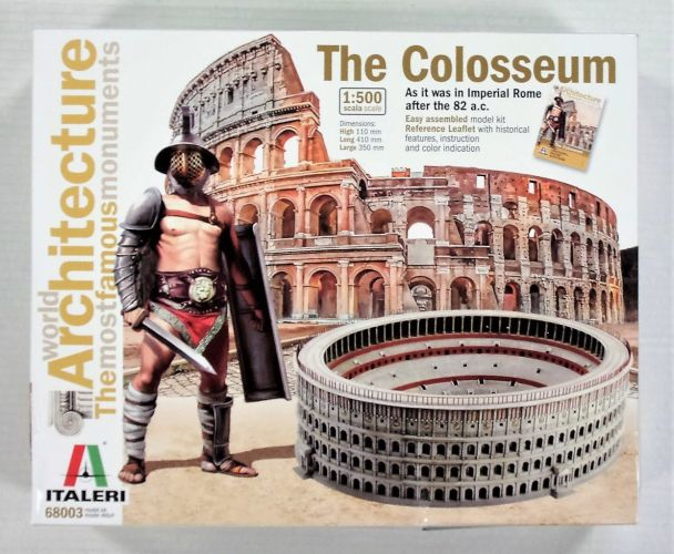 ITALERI 1/500 68003 THE COLOSSEUM AFTER THE 82 a.c. ARCHITECTURE THE MOST FAMOUS MONUMENTS