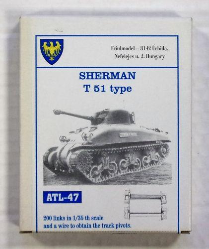 FRIULMODEL 1/35 ATL-47 SHERMAN T 51 TYPE TRACK SET