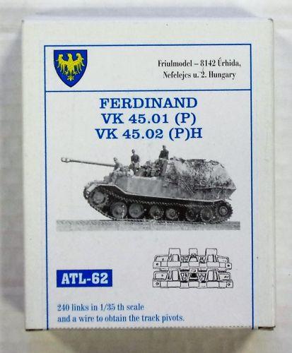 FRIULMODEL 1/35 ATL-62 FERDINAND VK 45.01  P  VK 45.02  P H TRACK SET