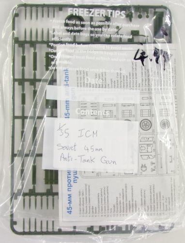 ICM 1/35 BK204 45-mm ANTI-TANK GUN 45mm  NO BOX