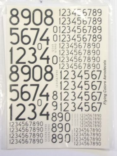 FLYING COLOURS  2479. 72002 MODERN SWEDISH NUMERALS 100mm - 1500mm