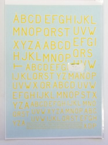 DISCOUNT DECALS  2482. SPECIAL TRYCK 025 YELLOW WITH WHITE EDGING MARKINGS OF THE SWEDISH AIR FORCE