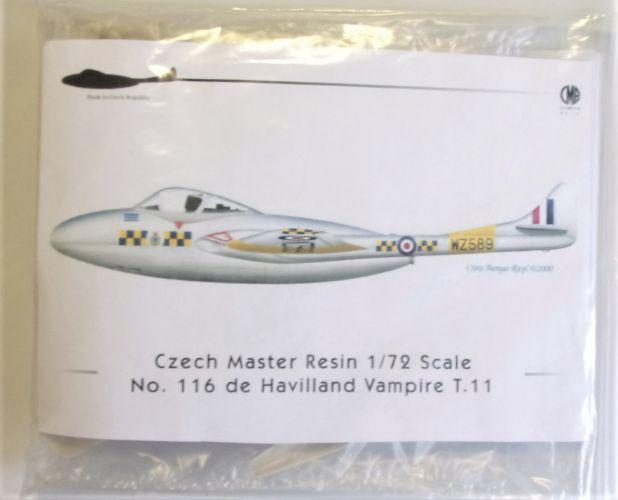 CMR MODELS 1/72 116 DE HAVILLAND VAMPIRE T.11