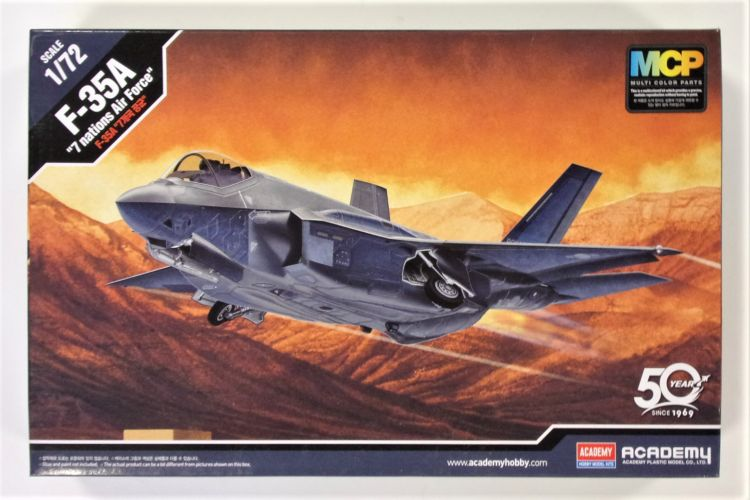 ACADEMY 1/72 12561 F-35A - 7 NATIONS AIR FORCE