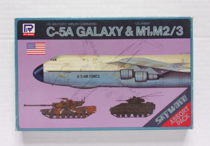 PIT-ROAD 1/700 S-1 C-5A GALAXY AND M1 M2/3 ASSORT PACK