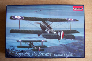 RODEN 1/48 407 SOPWITH 1 AND A HALF STRUTTER COMIC FIGHTER