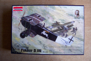 RODEN 1/48 421 FOKKER D.VII ALBATROS EARLY BUILT