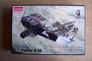 RODEN 1/48 421 FOKKER D.VII ALBATROS EARLY BUILT