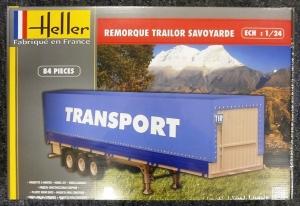 HELLER 1/24 80771 REMORQUE TRAILOR SAVOYARDE  UK SALE ONLY